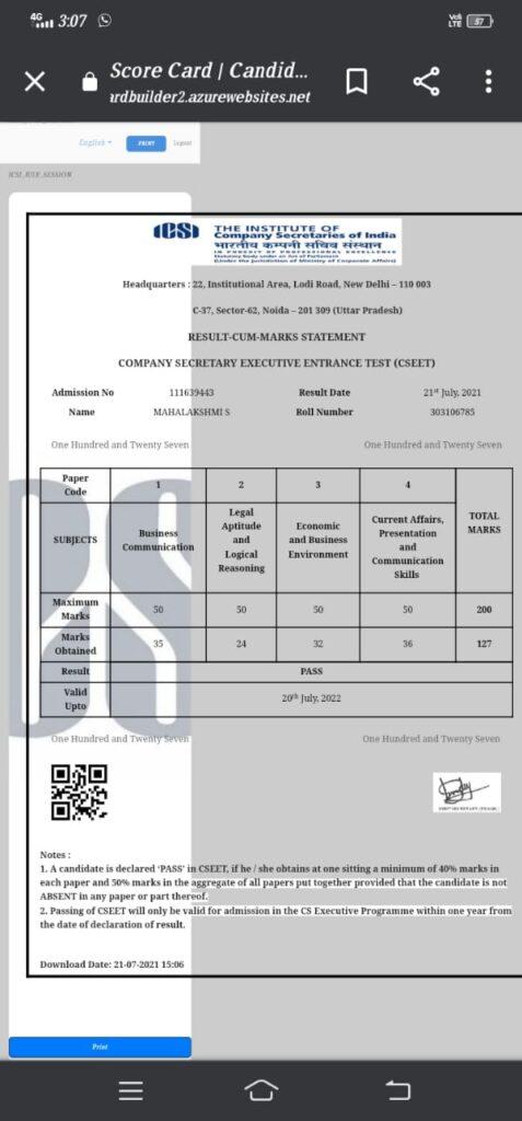 Best No 1 CS Coaching Classes in Coimbatore-CSEET Results