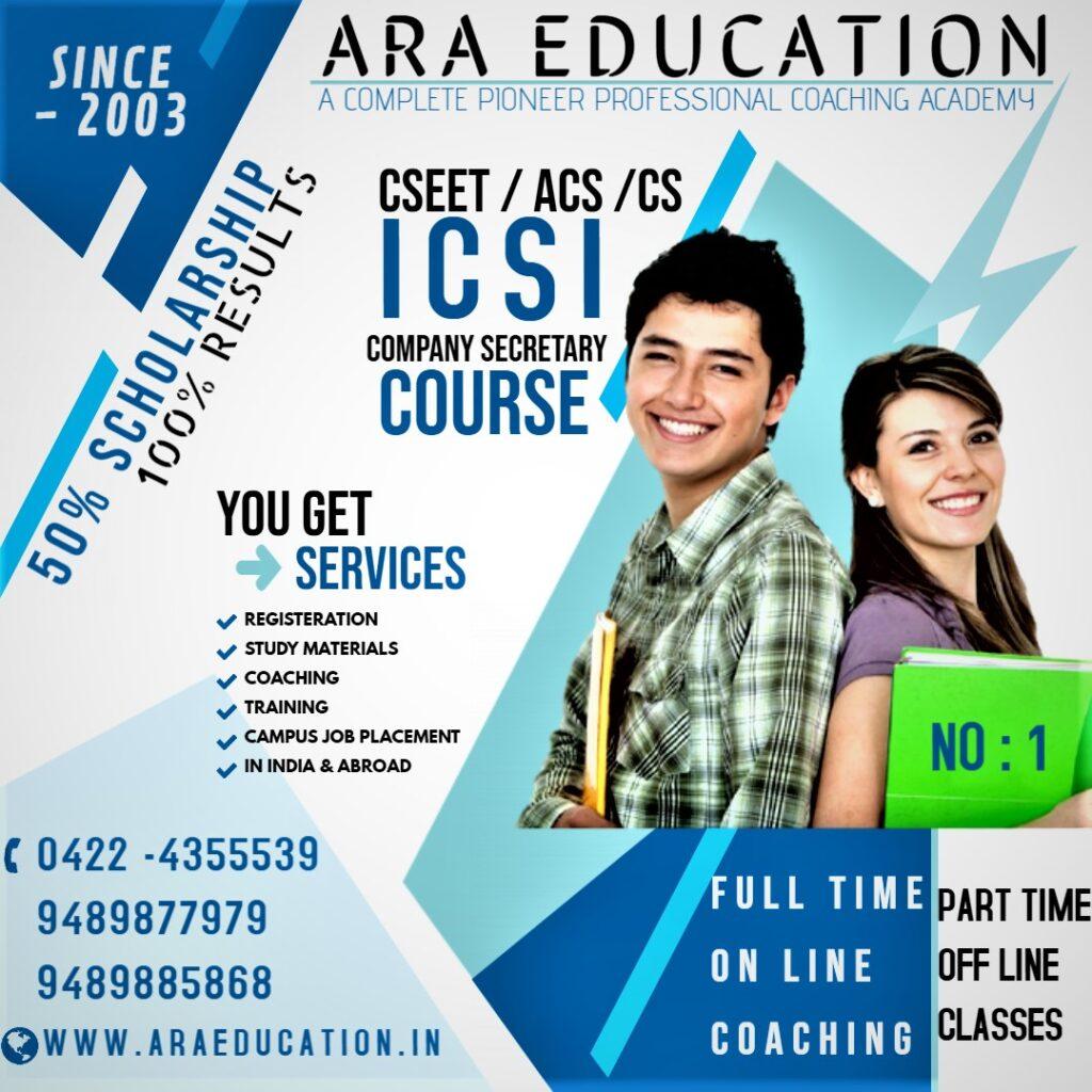 EASY PASS YOUR NO 1 CSEET LEVEL@ ARA EDUCATION