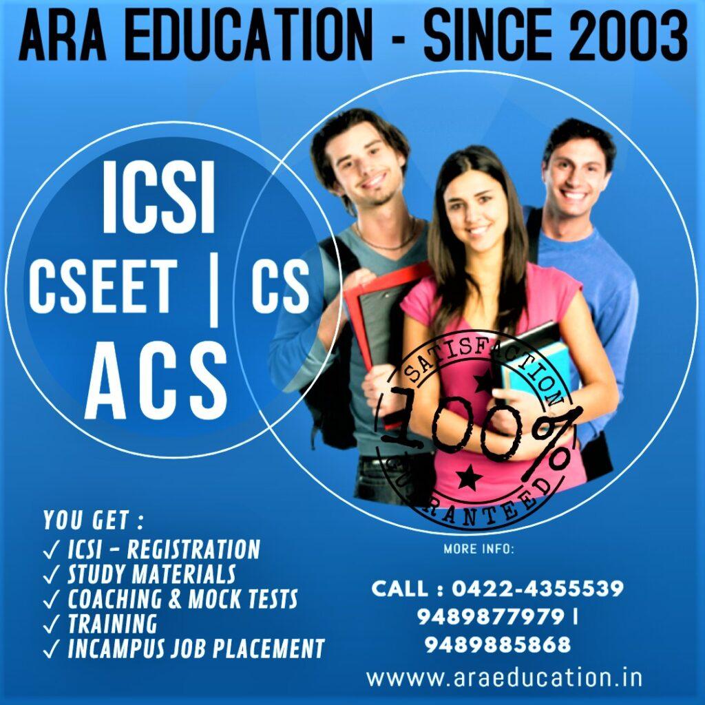 Best CSEET Online Live Coaching -CSEET-Ara EducationARA EDUCATION