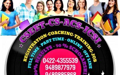 Best No 1 CSEET CS Coaching in Coimbatore Tamilnadu-Admissions is in Open-join soon!!!
