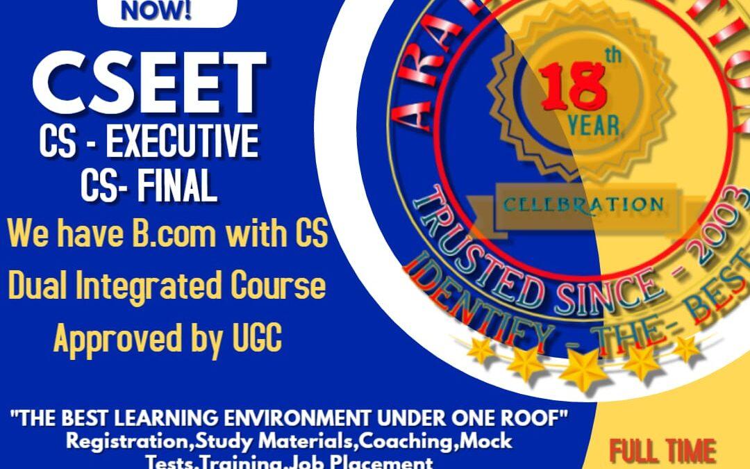 Best No 1 Coaching Center for CSEET-Join Soon