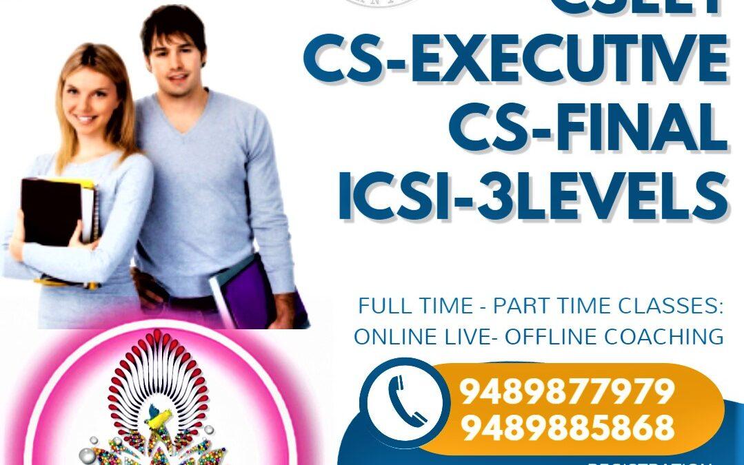 Quick Start you Admission For CSEET CS Executive CS Final-Best No 1 Institute